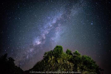 MẨU SƠN VỀ ĐÊM (STARS AT THE TOP) 20 giây f/1.8 ISO 3200 WB 3700K.  Sony a7r + lens Voigtlander 21 1.8 (cắt hood).