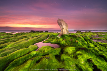 HỪNG ĐÔNG CỔ THẠCH (MOSSY DAWN) 121 giây f/5.6 ISO 800 WB 4800K. Gnd Rev0.9 Sony a7r II, Voigtlander 12mm w/center filter.