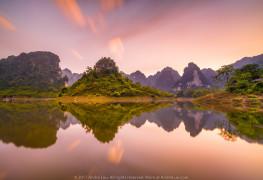 HOÀNG HÔN TRƯỚC BÃO (Before The Storm) 60s f/11 ISO 50 WB 5800K. Sony a7rII + Voigtlander 15 v3 + Center Filter. Gnd 2 HS, ND 6. Na Hang, Tuyên Quang.