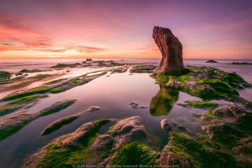 SOI BÓNG RÊU XANH (Sea Moss Pool) 30s f/8 ISO 64   WB 5900K. Sony a7r3 + Sony 16-35 f/2.8 GM @16mm. Gnd 2H. Cổ Thạch, Bình Thuận 5:52am.