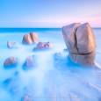 SÓNG BAY CHIỀU BUÔNG (Misty Waves) 61s f/5.6 ISO 100 WB 7350K. Sony a7r3 + lens Sony 12-24 @20mm. Bãi đá cạnh Bà Khòm, Cổ Thạch.