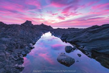 MÂY HỒNG HOANG ĐẢO (Red Sky Islet) 60s f/8 ISO 250 WB 6750K. Sony a7r2+ Canon 16-35 f4 (qua ngàm Sigma MC-11). Quảng Ngải.
