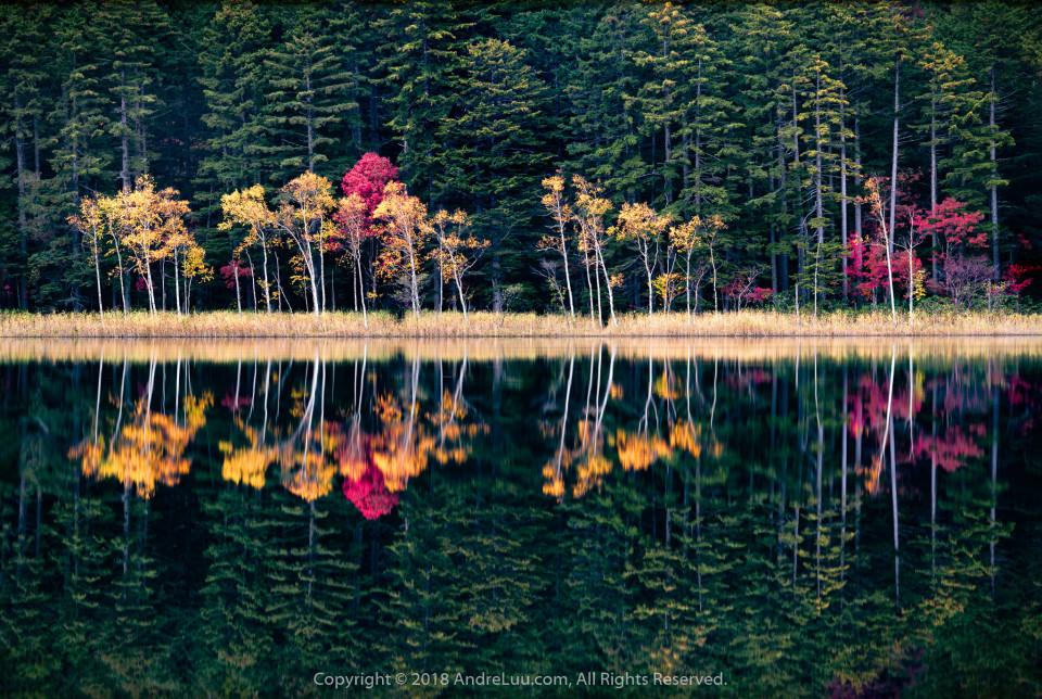 SÓNG NẮNG GƯƠNG THU (Waves of Autumn) 13s F/11 ISO 50 WB 6000K Sony a7r3 + Contax N 70-200 @150mm. GND 2H + ND6 + CPL0, AndreLuu Tripod. Hokkaido Japan.